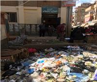 البيئة: رفع مخلفات من أمام مستشفى ميت غمر بالدقهلية