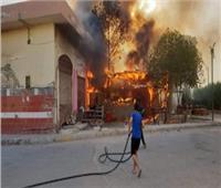 إصابة 16 مواطنا في حريق بـ«جناكليس» بالإسكندرية