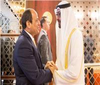 ولي عهد أبوظبي يصل برج العرب للقاء الرئيس السيسي