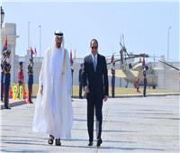 الرئيس يستقبل ولى عهد أبو ظبى بقصر رأس التين لعقد جلسة مباحثات