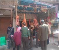 صور| قبل رمضان.. حملات مكبرة على محال الجزارة في شبرا الخيمة