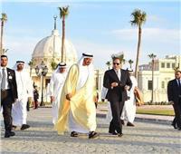 السيسي يصطحب محمد بن زايد في جولة تفقدية بـ«العلمين الجديدة»