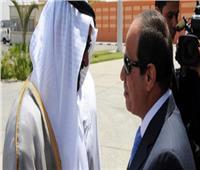 ولي عهد أبوظبي يغادر مطار برج العرب بعد انتهاء زيارته لمصر
