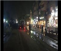 غلق شارع بورسعيد بسبب كسر ماسورة مياه