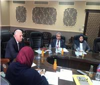 رئيس مصلحة الجمارك يلتقي خبراء إدارة الضرائب بصندوق النقد الدولي