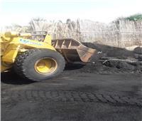 إزالة ١٢ مكمورة فحم بقرية الرياض بدمياط
