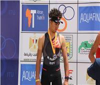 فيديو .. محمد طارق يحصد المركز الثالث في سباق الجونيور ببطولة الترايثلون