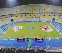 القمة 117| شعار فريقي الزمالك والأهلي يزينان ملعب برج العرب