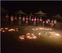 «الدارتس» يحتفل بـ«ساعة الأرض» على هامش بطولة مصر الدولية