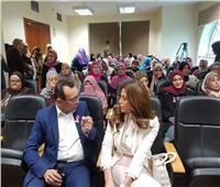 ريهام حجاج تزور مستشفى «بهية»