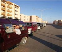 10 سيارات سرفيس جديدة لخدمة سكان الأحياء النائية بالسادات