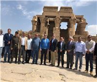 وزير الآثار يفتتح مشروع تخفيض منسوب المياه بمعبد أبيدوس بسوهاج