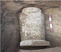 رئيس مدينة قويسنا يرافق البعثة الأثرية بعد الكشف الجديد