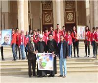 طلاب الأزهر والكنيسة بمطروح في زيارة مشتركة لمسجد وكاتدرائية العاصمة الإدارية