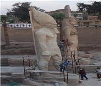 ننشر صور تمثال «رمسيس الثاني» قبل إزاحة الستار عنه بعد ترميمه