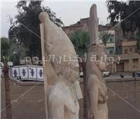 العناني يزيح الستار عن تمثال رمسيس الثاني بعد تجميعه