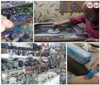 فيديو وصور| حارة الصالحية.. إمبراطورية تحويل الأحجار الكريمة لقطعة من الجمال ومزارا لعشاقها