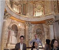 سفراء 40 دولة يلتقطون صور الـ«سلفي» داخل الدير الأحمر بسوهاج