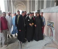الأنبا باخوميوس يتفقد كاتدرائية دير القديس مكاريوس