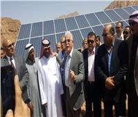 محافظ جنوب سيناء يفتتح مشروعات تنموية في أبورديس