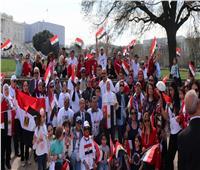 فيديو وصور| وقفة للجالية المصرية بأمريكا ترحيباً بالرئيس السيسي ورفض إرهاب الإخوان