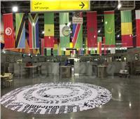 صور| مطار القاهرة في حلة إفريقية استعدادًا لاستقبال ضيف قرعة الكأس