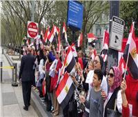 صور| استمرار ترحيب الجالية المصرية في أمريكا بالرئيس لليوم الثاني