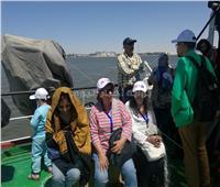 صور| ضيوف مهرجان الإسماعيلية في رحلة بحرية بقناة السويس الجديدة
