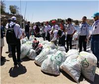 صور| حملة لتنظيف النيل من المخلفات البلاستيكية في محمية سالوجا وغزال