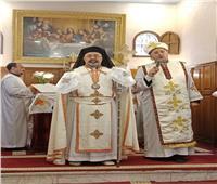 البطريرك ابراهيم اسحق يترأس القداس الإلهي بكنيسة العذراء