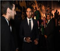 ثلاثي المنتخب السابقين يصلون قرعة أمم أفريقيا.. صور