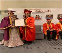 مايا مرسيتحصل على درجة الدكتوراه الفخرية من جامعة «جهارخاند راي» الهندية