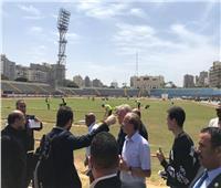 ممثلو منتخبات المجموعة الثانية في زيارة لاستاد إسكندرية