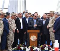 5 صور ترصد تفقد الرئيس السيسي لمحور روض الفرج