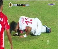 إصابة قوية لفرجاني ساسي وتبديله أمام حسنية أغادير