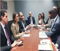 وزيرة الاستثمار تلتقي نائب رئيس البنك الدولي للبنية الأساسية