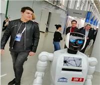 «روبوت» يتحدث ويلتقط الصور في معرض «أتوم اكسبو 2019»