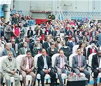 انتهاء فعاليات مؤتمر نقابة البترول لدعم التعديلات الدستورية بالسويس