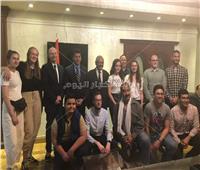 وزير الشباب يلتقي مجموعة من الشباب الألمان