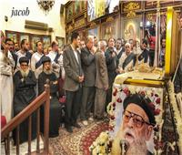 كنيسة مارجرجس بالقللي تودع كاهنها القمص منسي فرج