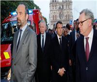 الرئيس الفرنسي يصل إلى مقر حريق كاتدرائية نوتردام
