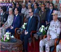 فيديو  السيسي يشاهد التوجيه الديموغرافي والتكتيكي لقاعدة محمد نجيب