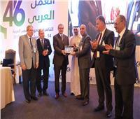«فلسطين» تكرم وزير القوى العاملة في مؤتمر العمل العربي