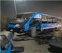 فيديو وصور| مصرع  5 أشخاص وإصابة 16 آخرين في حادث على الدائري