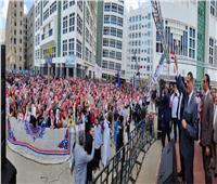 طلاب جامعة دمنهور ينظمون مسيرة مهيبة لتأييد التعديلات الدستورية