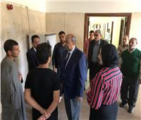 جولة تفقدية مفاجئة  لرئيس جامعة المنيا بالمدن الجامعية