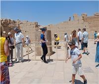 إقبال سياحي على معبد الكرنك والجعران المقدس