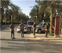 صور| تأمين سعودي بالرياض لاستفتاء المصريين على تعديلاتالدستور