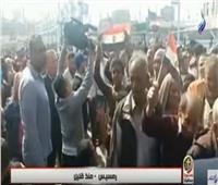 شاهد مسيرة ضخمة أمام محطة مصر احتفالا بإنطلاق الاستفتاء على التعديلات الدستورية