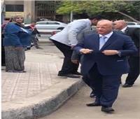 التعديلات الدستورية 2019  محافظ القاهرة يدلى بصوته في مصر الجديدة
